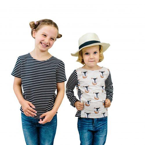 ebook Schnittmuster Shirt Tshirt Fransen Kinder Basic