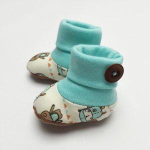 Gamaschensöckchen Schnittmuster ebook Anfänger Baby Neugeboren Söckchen Schühchen nähen