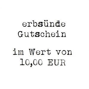 erbsünde Gutschein – 10,00 EUR
