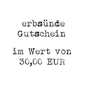 erbsünde Gutschein – 30,00 EUR