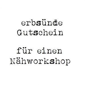 Nähworkshop Gutschein