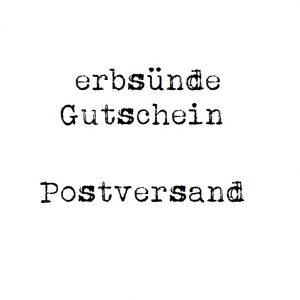 erbsünde Gutschein – Postversand