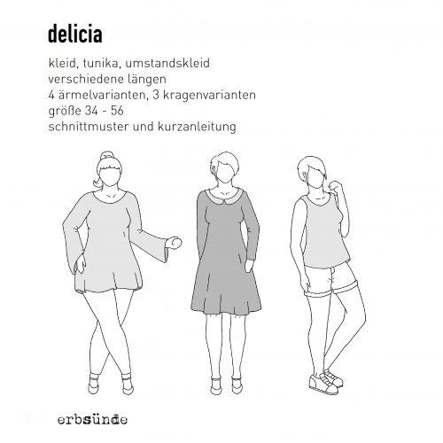 Papierschnitt DELICIA - Kleid / Tunika - erbsünde - Nähkurse ...