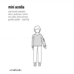 ebook Schnittmuster Papierschnitt Acedia sweater pulli shirt Kinder