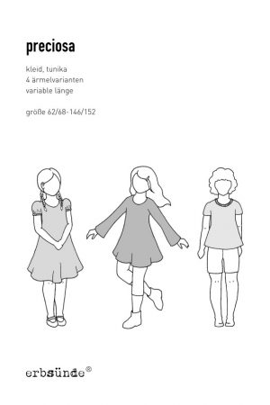 Papierschnitt Preciosa Schnittmuster Kinder Kleid Tunika