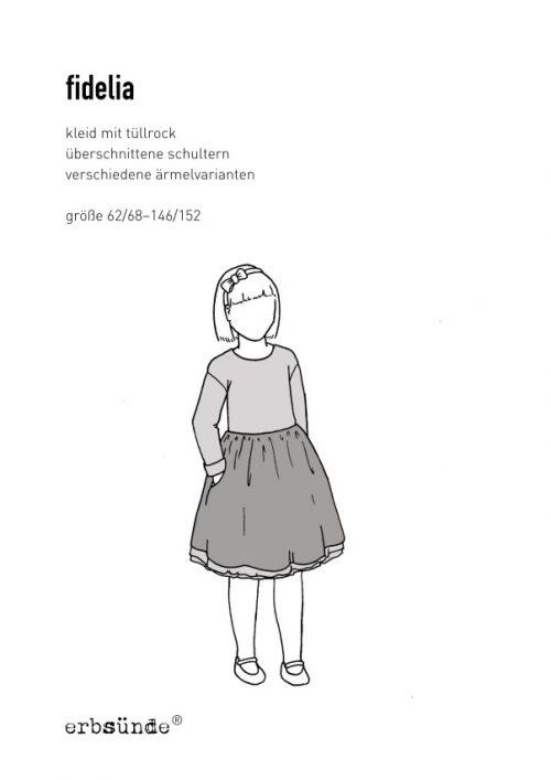 Papierschnitt fidelia Kinder Kleid Tüllrock