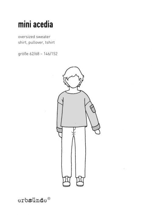 Papierschnitt mini acedia schnittmuster kinder pullover shirt