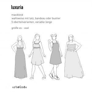 Schnittmuster, Papierschnitt, Damen, Kleid, Maxikleid