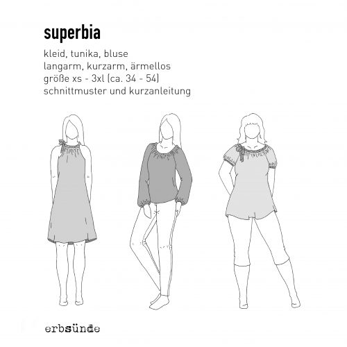 Papierschnitt SUPERBIA - Basis-Tunika + lange Ärmel - erbsünde ...