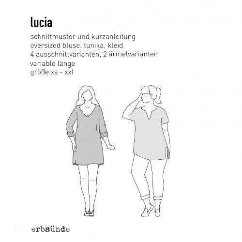 Papierschnitt Lucia - Bluse/Tunika/Strandkleid - erbsünde - Nähkurse ...
