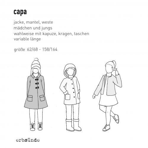 Papierschnitt CAPA - Jacke/Mantel/Weste - erbsünde - Schnittmuster ...