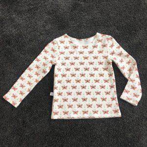 Langarmshirt Mädchen Schmetterling handgefertigt handmade Bio Jersey