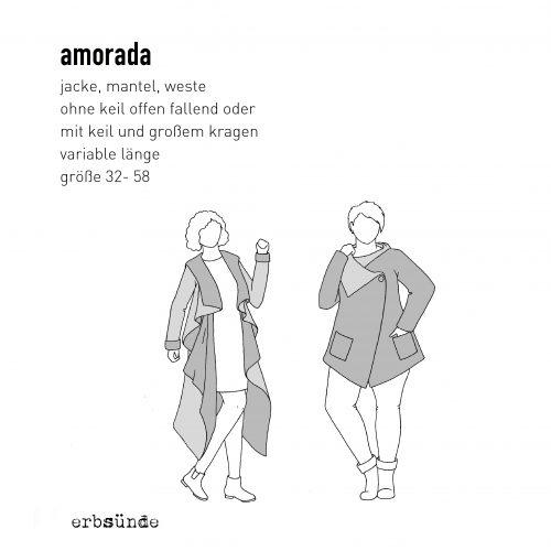 ebook Schnittmuster Papierschnitt Amorada Jacke Mantel Weste