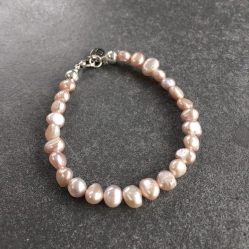 Armband Süßwasserperlen peach elements Schmuck