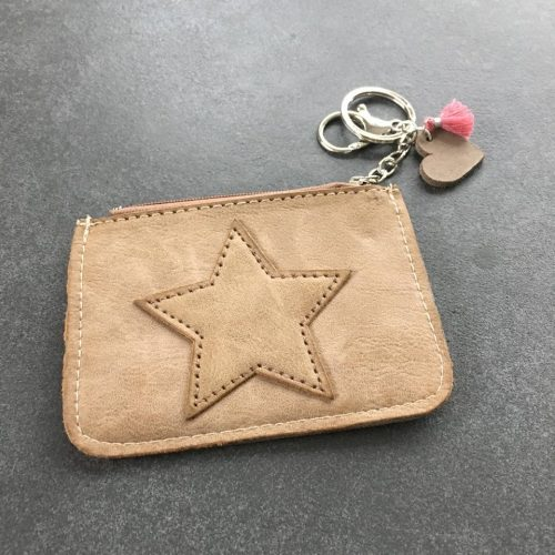 Mini Portemonnaie Schlüsselanhänger Leder imitat