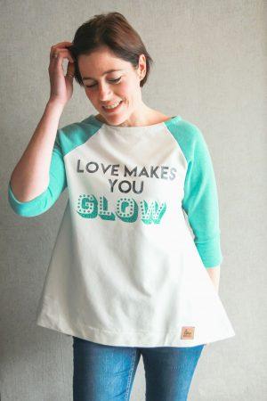 ebook Schnittmuster Naehanleitung erbsuende Damen Raglan Pulli Shirt Kleid Tunika