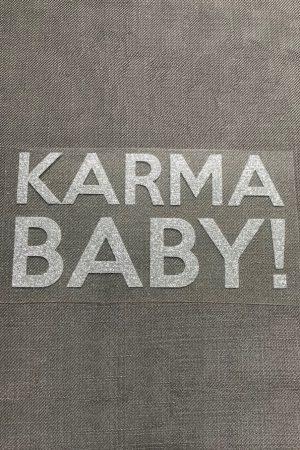 Bügelbild Karma baby silber statement