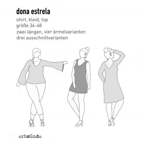 Papierschnitt Dona Estrela 34-48 - Shirt, Kleid, Top - erbsünde ...