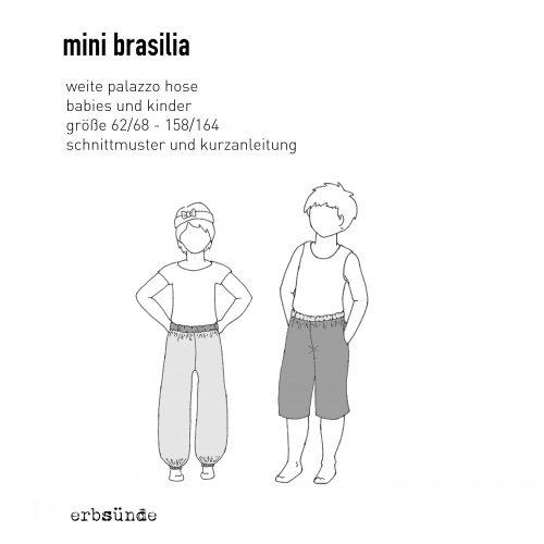 Papierschnitt Mini Brasilia - Palazzohose - erbsünde - Schnittmuster ...