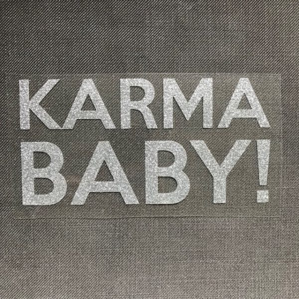 Bügelbild Karma Baby erbsünde