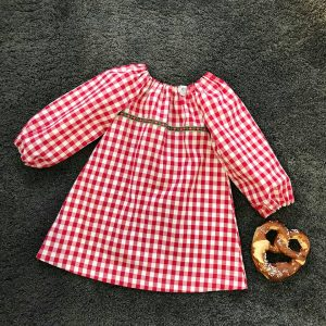 Kinder Tunika Wiesn kariert handmade 1