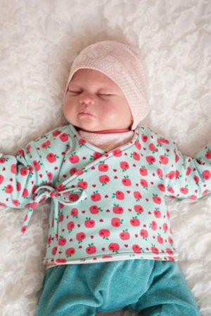 ebook Schnittmuster Wickeljacke jäckchen baby neugeboren frühchen reborn