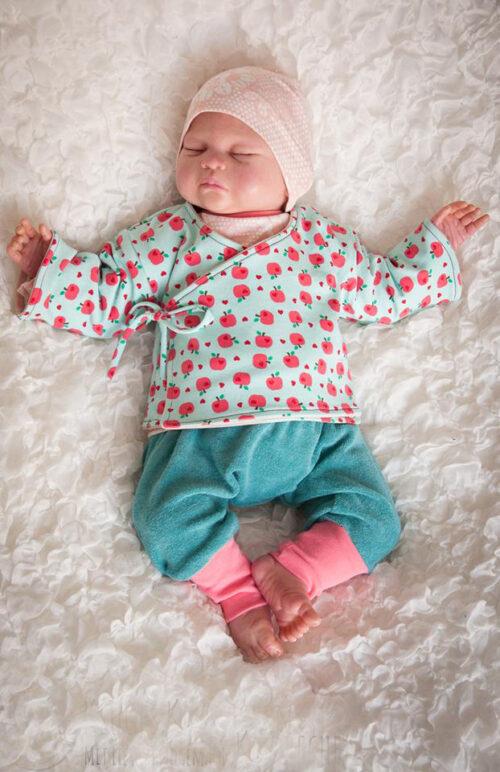 ebook Schnittmuster Baby Newborn Jacke Wickeljacke Novo erbsuende