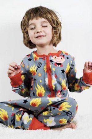 Schlafanzug overall schlafoverall Kinder ebook Schnittmuster Pyjama