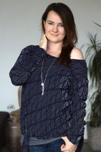 amizade schnittmuster damen ebook Pullover Shirt Kleid Knoten