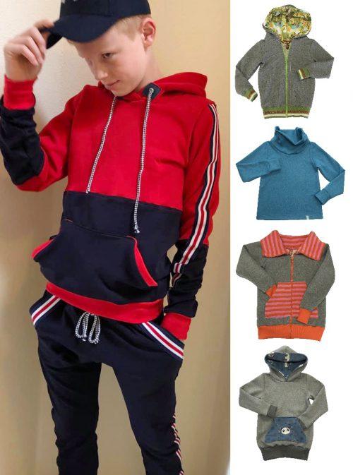 hoodie, sweatjacke, pullover, kids, kapuze, schnittmuster, ebook, nähanleitung, kinder