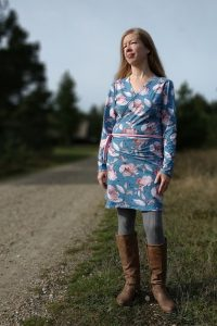 ebook Schnittmuster Eleganza erbsünde Wickelkleid curvy plus size