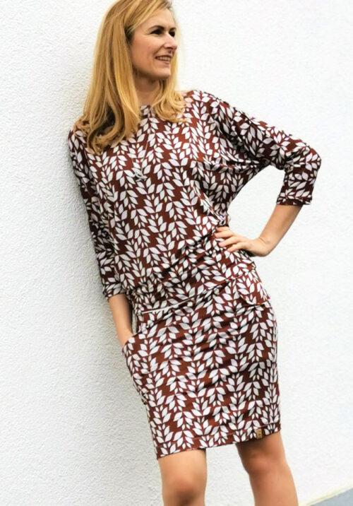 ebook Veloza Kleid Fledermaus Ärmel Fledermausärmel Rock Anfänger Nähanleitung Schnittmuster