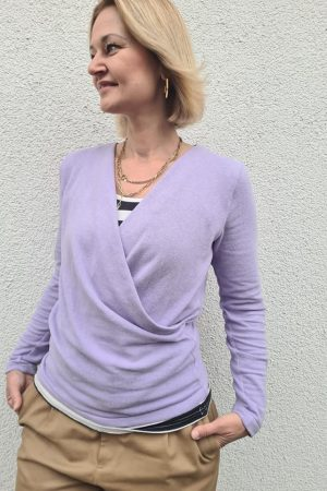 ebook Nähanleitung Wickelpulli Pullover Wickeloptik Damen erbsünde