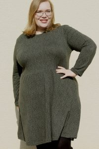 plus size übergrößen curvy ebook Schnittmuster Nähanleitung Kleid Damen A-linie Sommerkleid erbsünde