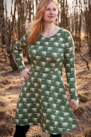ebook Schnittmuster Damen Kleid Rock ausgestellt Jerseykleid Damen erbsuende Petrolina