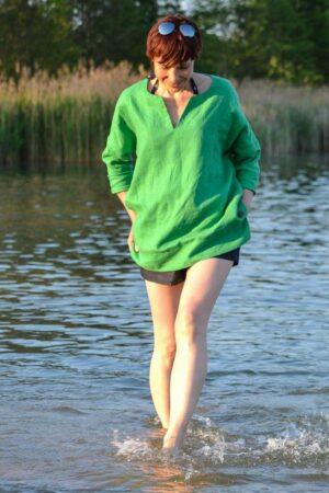 ebook Schnittmuster Naehanleitung Damen bluse tunika oversize webware boho strand erbsuende