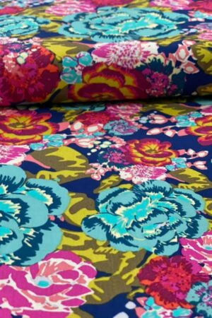 baumwolle meterware bestellen stoff kleidstoff blusenstoff art gallery fabric agf erbsuende blumen bunt