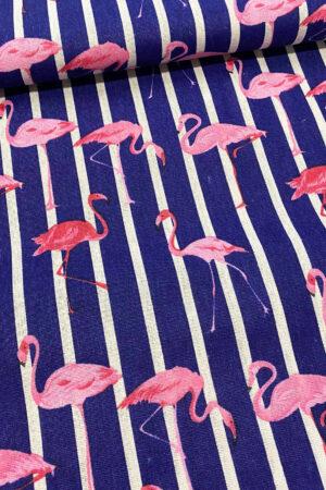 Stoff Canvas Flamingos erbsuende erbstoff meterware taschenstoff