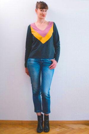 ebook schnittmuster naehanleitung damen kleid shirt top ausschnitt pullover cardigan erbsuende