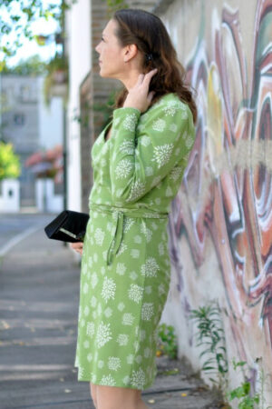 ebook schnittmuster naehanleitung damen kleid wickelkleid kleiderschnitt erbsuende jerseykleid webware