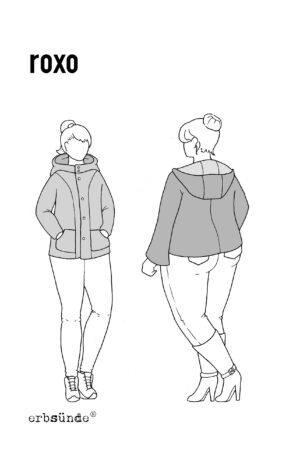 papierschnitt schnittmuster damen jacke kapuze sweatjacke wolljacke
