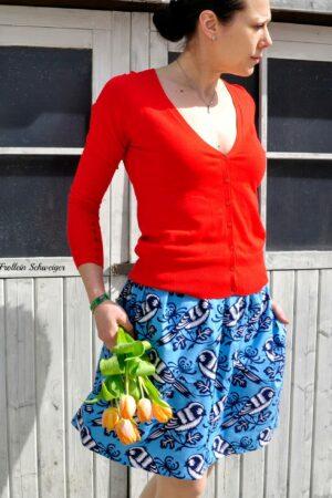 ebook schnittmuster naehanleitung damen rock mit taschen erbsuende