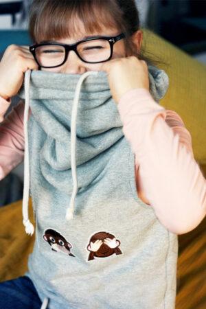 ebook Schnittmuster Kinder Pullunder Kapuze Loop Kragen Kleid erbsuende